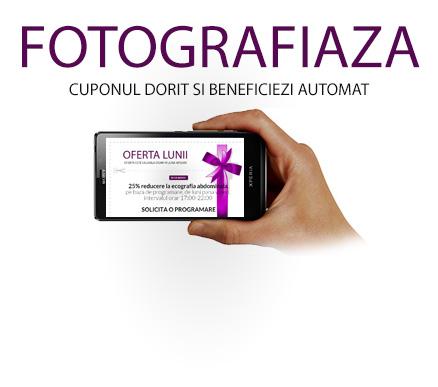 Fotografiaza ecranul in dreptul cuponului si prezinta-te cu poza la noi!<br> OFERTELE NU SE CUMULEAZA.